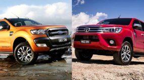 Comparativo inédito das Picapes em Vídeos: Nova Toyota Hilux e Ford Ranger (com novo visual)!