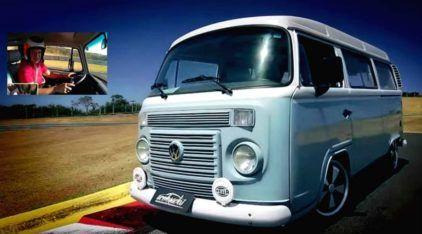 Como anda uma VW Kombi (turbinada) na Pista? Rubens Barrichelo acelera e mostra pra gente!