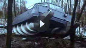 Movido a parafusos, este é o Veículo Militar (para todos os terrenos) mais INSANO já feito pela Rússia!