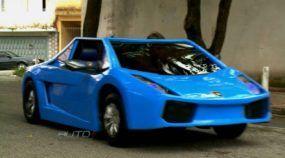 Incrivelmente bacana: Pai constrói um Mini-Lamborghini (caprichado) para seu filho! Veja o vídeo!