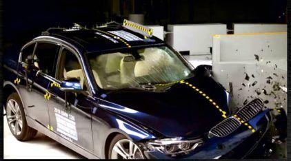 BMW Série 3 desaponta em teste de colisão nos Estados Unidos (Vídeo mostra detalhes)!