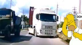 Essa é a mais assustadora forma de se encontrar um Caminhão vindo de Frente (e poderia ser bem pior)!