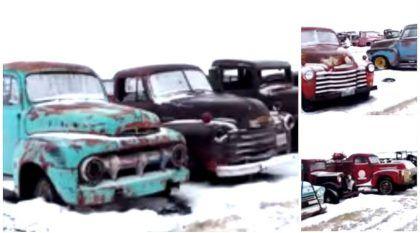 Abandonados na Neve! Vídeo mostra o (triste) destino de carros e caminhonetes clássicos deixados no esquecimento!