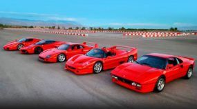 5 lendas da Ferrari numa (épica) disputa na arrancada: 288 GTO x F40 x F50 x Enzo x LaFerrari! Quem ganha?