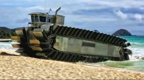 Brutalmente impressionante! Esse é o novo (e gigante) Veículo Anfíbio de Guerra dos Estados Unidos!