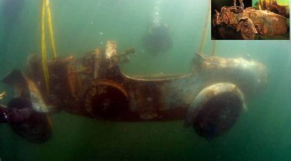 O inacreditável Bugatti que ficou 73 anos no fundo de um Lago (por culpa de um Playboy)!