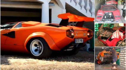 Seu coração vai disparar com esse ronco de V12! Veja como esse Cara restaurou (na raça) uma Lamborghini Countach!