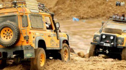 Vídeo fenomenal! Com muitas Aventuras, imagine o mais legal Encontro de Land Rover Defender (com rádio-controle)!