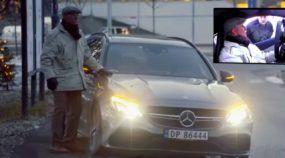 Esses mecânicos da Mercedes tiveram uma (extrema) surpresa ao socorrerem um