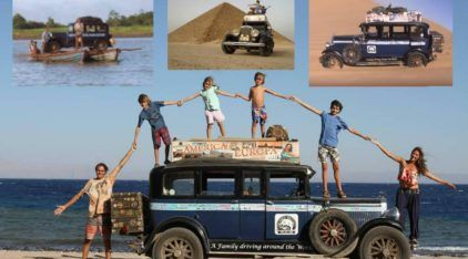 Inacreditável! Dirigindo um carro de 1928, Família completa 16 anos viajando o Mundo!