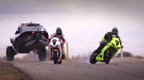 Duelo épico e insano em Drift com carros, um buggy tunado (da polícia) e duas supermotos