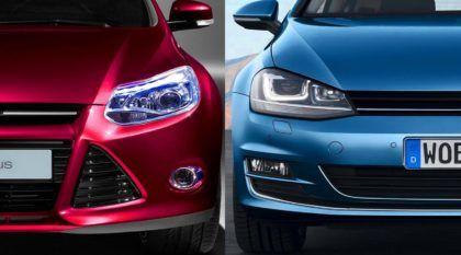 Ford Focus Titanium 2.0 (Powershift) ou VW Golf TSI: quem é mais rápido em Interlagos?