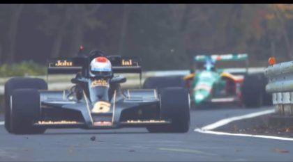 Top! Japoneses colocam carros de Fórmula 1 acelerando serra acima ao lado de lendas como o Nissan GT-R