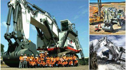 Monstruosamente brutal! Veja como nasce e funciona a Escavadeira (de 800 toneladas) da Liebherr, a R9800