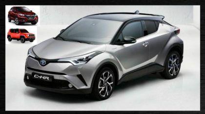 Revelado agora o Novo SUV da Toyota, o C-HR (para concorrer com o Honda HR-V e Renegade)! Veja as primeiras imagens!