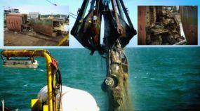 De partir o coração! Veja as imagens do Resgate de 1.400 veículos (da Mistsubishi) retirados do fundo do Mar!