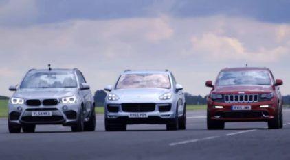 Três das SUVs mais nervosas (e potentes) se enfrentam na arrancada