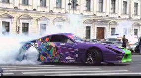 Um Insano Toyota Supra de Drift (com mais de 800 cv) acelera tudo na Rússia