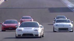 Choque de gerações: Honda NSX (do antigo) enfrenta supercarros atuais (Ferrari, Corvette e mais)