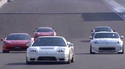 Choque de gerações: Honda NSX (clássico) contra supercarros mais modernos (Ferrari, Corvette e mais)