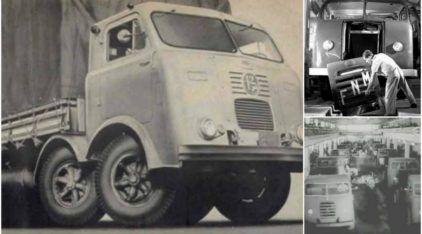 Historicamente incrível! Veja imagens (raríssimas) da Linha de Montagem dos caminhões FNM no Brasil!