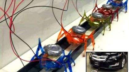 Fim dos guinchos no futuro? Veja seis Mini-Robôs (de 17 gramas) puxando um Carro de 1800 kg!