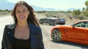 Michelle Rodriguez (Letty, Velozes e Furiosos) e o Jaguar mais rápido já produzido: loucura!