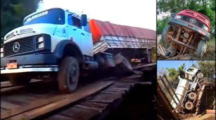 Brasil desmoronando: Veja 10 casos (revoltantes) de Pontes que desabaram na travessia de Caminhões!