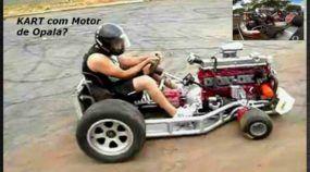 Isso é insano! Veja só esse Kart com motor de Opala 6 cilindros (e ainda com Turbo)!