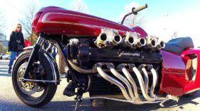Insanidade sem limite! Veja só uma Moto com Motor V12 de Lamborghini!