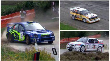 Incrível: carros de históricos do Rally se enfrentam nos dias de hoje (inclusive à noite)