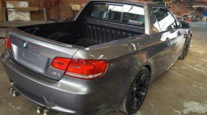 Alguém transformou esse BMW M3 numa Picape! Veja primeiras imagens dessa insanidade!