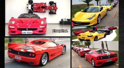 Top! Veja encontro impressionante de Ferraris no Brasil (incluindo a única F50 no país)!