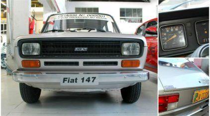 Momento histórico! Veja o Fiat 147 (Chassi 00001) que foi o Primeiro FIAT produzido no Brasil!