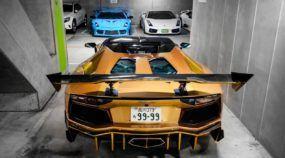 Imagens fortes: uma garagem lotada de modelos Lamborghini como você nunca viu (só podia ser no Japão)