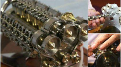Espetacular! Veja esse incrível Mini-Motor W18 sendo construído (e funcionando como Sinfonia)!