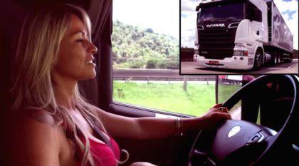 Vida de Caminhoneira: Vídeos mostram o trabalho de Sheila Bellaver e seu Scania!