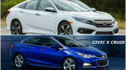 Novo Civic e Novo Cruze se enfrentam (inclusive no 0-100 km/h) na batalha dos turbos!