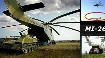 Brutal! O MI-26 é o maior Helicóptero do Mundo (conseguindo até erguer um Avião e transportar veículos pesados)!