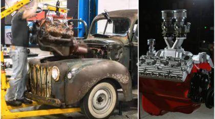 TOP ao extremo! Vídeo mostra (passo a passo) como esse Motor Ford V8 foi refeito por completo!