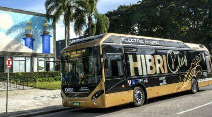 Novo ônibus urbano da Volvo (de primeiro mundo) vai ser testado em Curitiba! Veja detalhes desse elétrico-híbrido plug in!