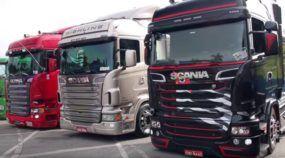 Só monstros! Os caminhões mais insanos (e rebaixados) do Brasil em um encontro sensacional