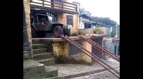 Será que essa é a Garagem com o pior acesso do mundo?