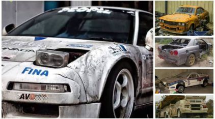 É de partir o coração! Veja esses Carros de Corrida e Esportivos abandonados!