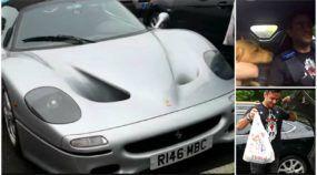 Esse cara usa uma raríssima Ferrari F50 prata no dia a dia (inclusive para ir ao mercado e levar seu cachorro)!