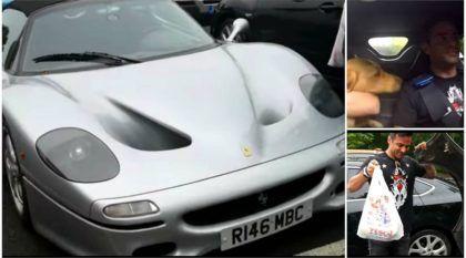 Esse cara usa uma raríssima Ferrari F50 prata no dia a dia (inclusive para ir ao mercado e levar seu cachorro)