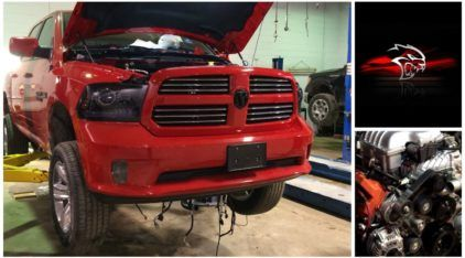 Com mais de 700cv, essa é a primeira Dodge RAM com motor V8 Hellcat!