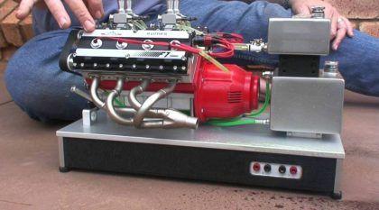 Esse cara construiu um estupendo mini-motor V8 nitro (Veja e ouça essa máquina)