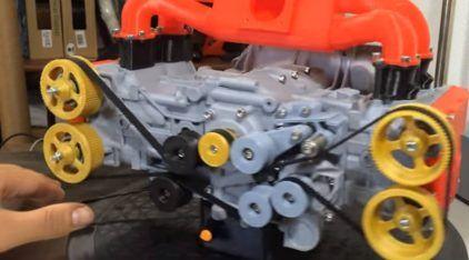 Incrível! Esse cara imprimiu (em 3D) um motor Subaru que funciona de verdade!