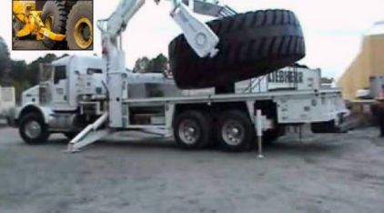 Como é feita a troca de Pneus (enormes) dos maiores Caminhões do mundo